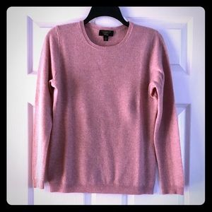 Charter Club pastel pink cashmere sweater
